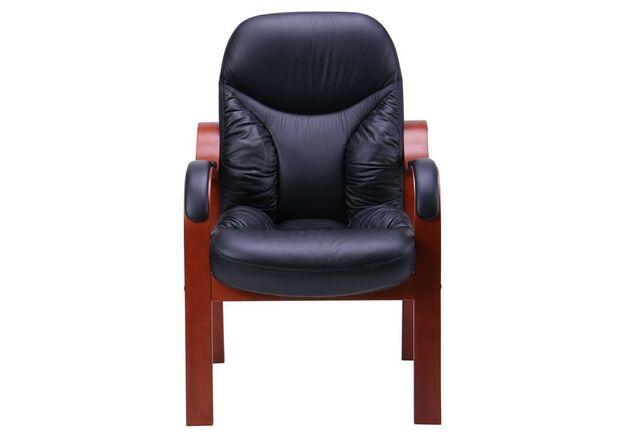 Кресло Буффало CF коньяк Кожа Люкс комбинированная черная - Фото №1