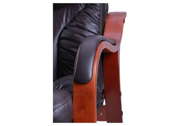 Кресло Буффало CF коньяк Кожа Люкс комбинированная темно-коричневая - Фото №2