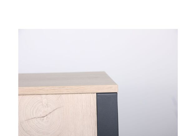 Стол компьютерный Pluto (1200х600х750) Дуб Эндгрейн/Черный графит - Фото №2
