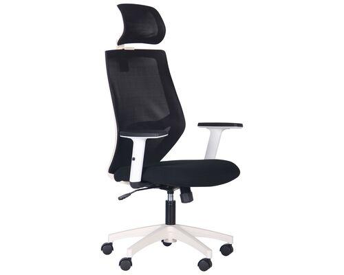 Кресло Lead White HR сиденье Нест-01 черная/спинка Сетка HY-100 черная - Фото №1