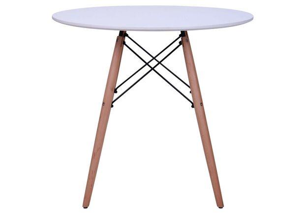 Стол обеденный круглый Helis d800*h72 см белый - Фото №1