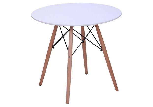 Стол обеденный круглый Helis d800*h72 см белый - Фото №2