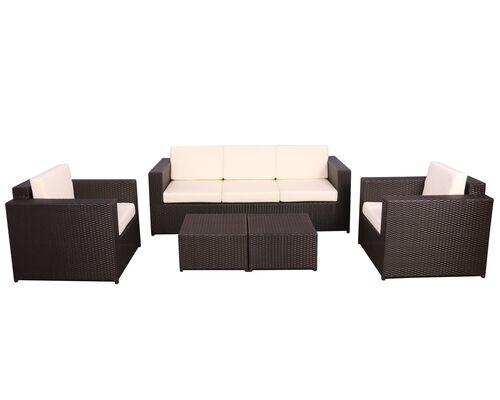Комплект мебели Santo из ротанга Elit (SC-B9508) Brown MB1034 ткань A13815 - Фото №1