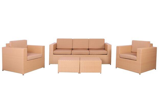 Комплект мебели Santo из ротанга Elit (SC-B9508) Sand AM3041 ткань A14203 - Фото №1