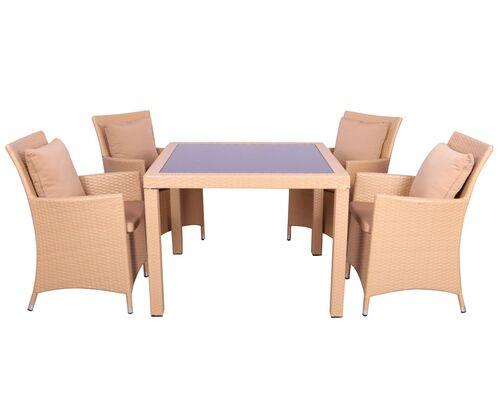 Комплект мебели Samana-4 из ротанга Elit Sand - Фото №1