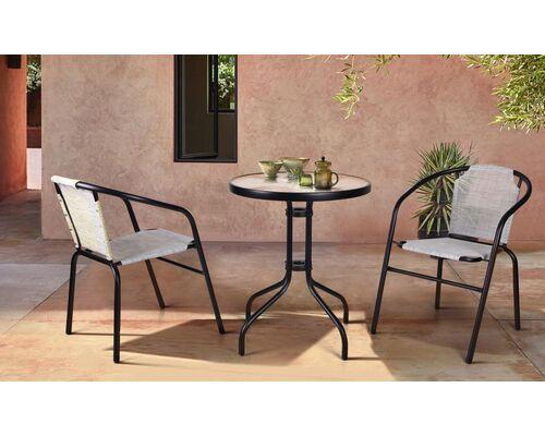 Комплект стол Rico и 2 кресла Taco серый - Фото №1