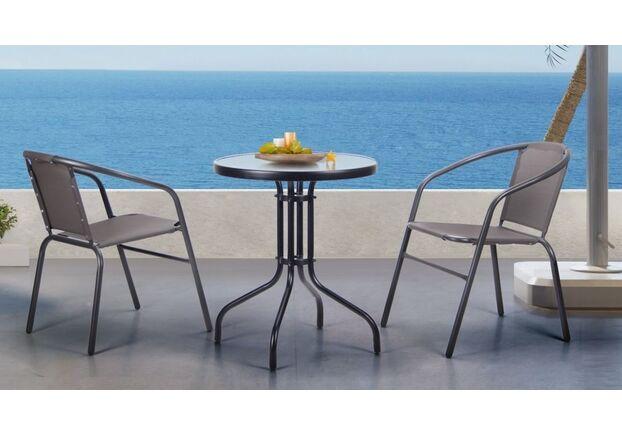 Комплект стол Rico и 2 кресла Taco темно-серый - Фото №1
