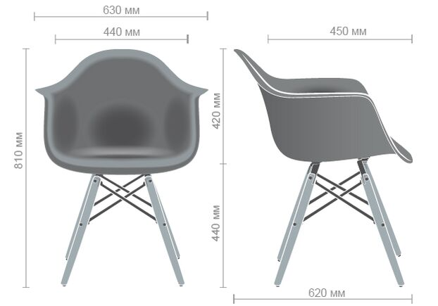 Кресло Salex PL Wood белый - Фото №2