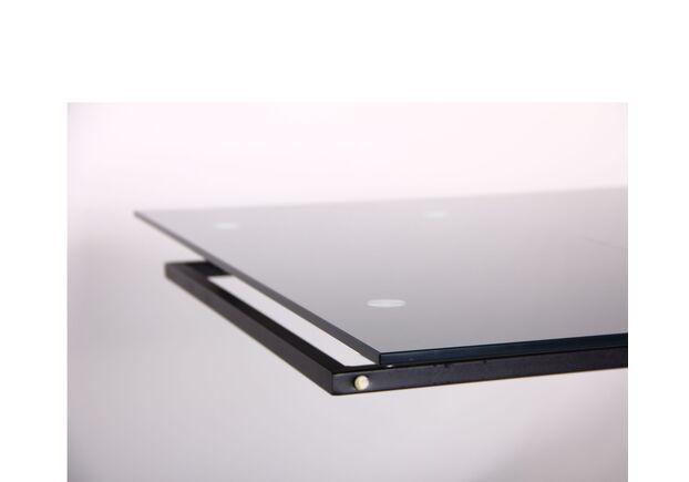 Стол обеденный раскладной Андалусия черный/стекло антрацит - Фото №2