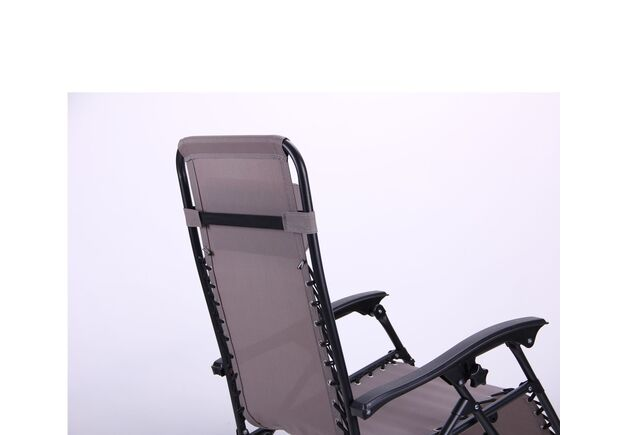 Шезлонг Релакс черный/темно-серый - Фото №2