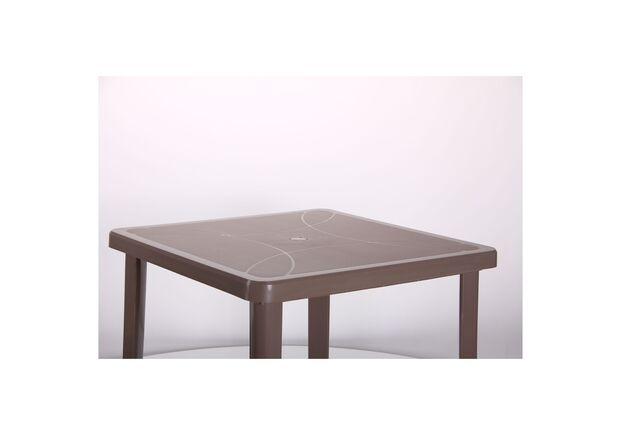 Стол Nettuno 80х80 см пластик тауп - Фото №2