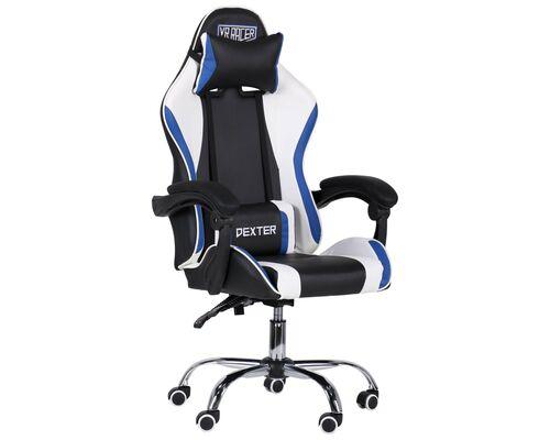 Кресло VR Racer Dexter Frenzy черный/синий - Фото №1