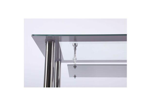 Стол Бетани нерж.сталь/стекло прозрачное платина - Фото №2