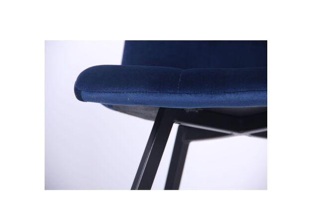 Стул обеденный Harlem черный/велюр темно-синий - Фото №2