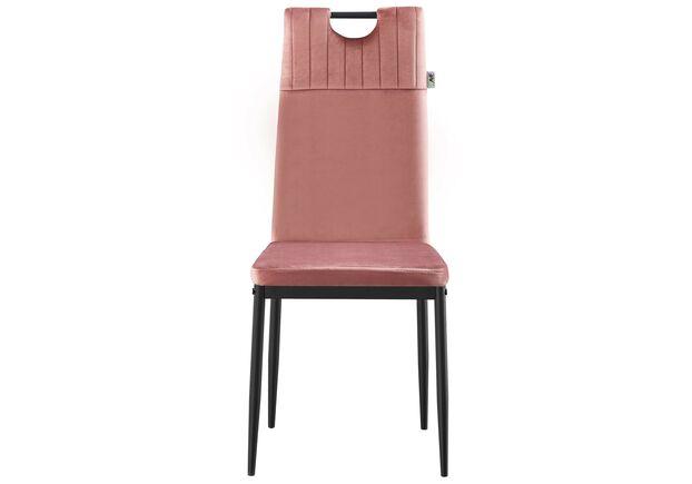 Стул обеденный Alabama черный/велюр розовый антик - Фото №2