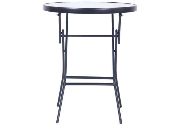 Стол Maya черный, стекло Волна - Фото №2