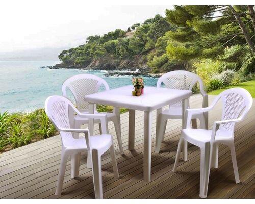 Стол Nettuno и 4 стула Ischia белый - Фото №1
