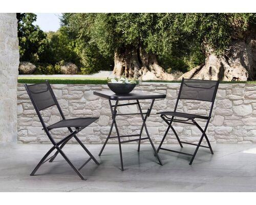 Стол Mexico и 2 стула Linda темно-серый - Фото №1