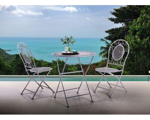 Стол и 2 стула Мерибель серый - Фото №1