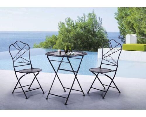 Стол и 2 стула Антиб черный - Фото №1