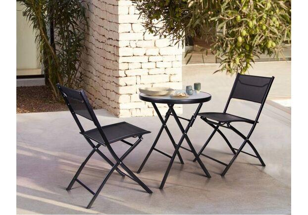Стол Maya черный и 2 стула Linda черный - Фото №2