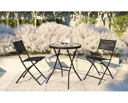 Стол Maya черный и 2 стула Linda черный - Фото №1