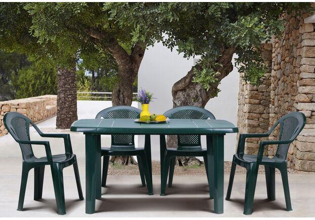 Стол Sorrento 140*80 и 4 стула Ischia зеленый - Фото №1