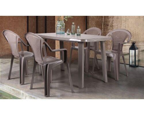 Стол Sorrento 140*80 и 4 стула Ischia тауп - Фото №1