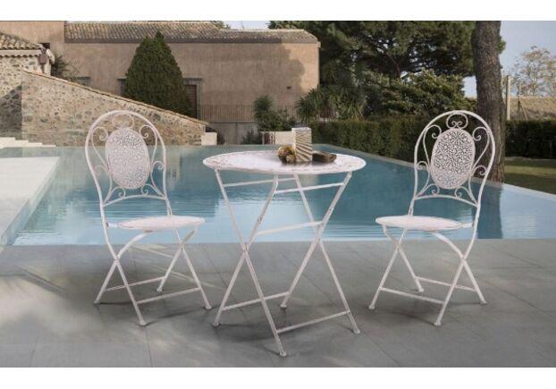 Стол и 2 стула Тулон металл белый - Фото №1