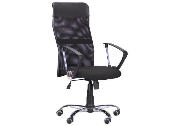 Кресло Ultra Хром сиденье А-1/спинка Сетка черная, вставка Скаден черный - Фото №1
