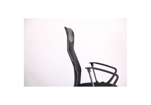 Кресло Ultra Хром сиденье А-1/спинка Сетка черная, вставка Скаден черный - Фото №2
