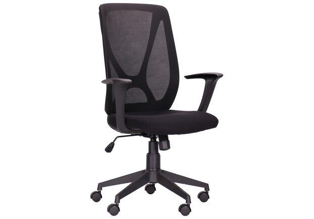 Кресло Nickel Black сиденье Сидней-07/спинка Сетка SL-00 черная - Фото №1