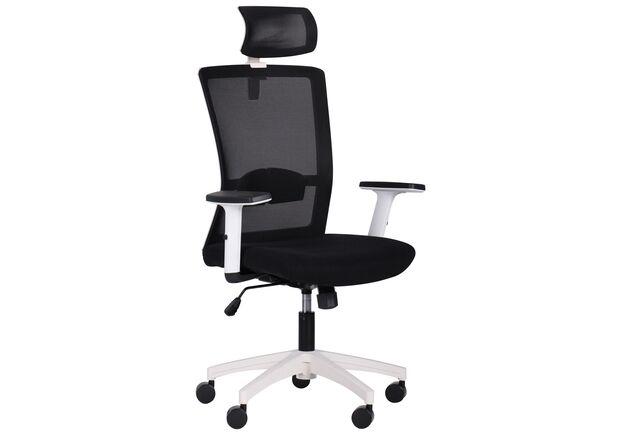 Кресло Uran White HR сиденье Сидней-07/спинка Сетка HY-100 черная - Фото №1
