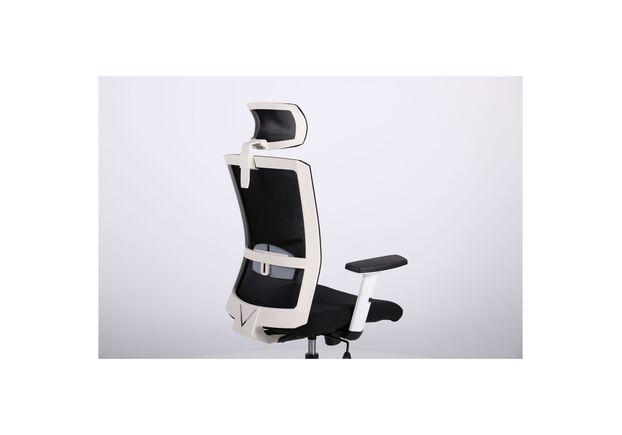 Кресло Uran White HR сиденье Сидней-07/спинка Сетка HY-100 черная - Фото №2