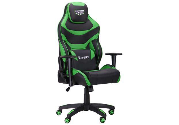 Кресло VR Racer Expert Champion черный/зеленый - Фото №1