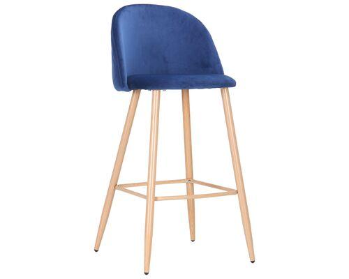 Барный стул Bellini бук/blue velvet - Фото №1