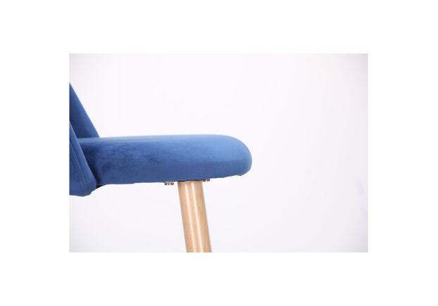 Барный стул Bellini бук/blue velvet - Фото №2