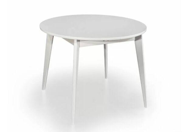 Кухонный круглый стол Равенна D110 см белый/дерево - Фото №1