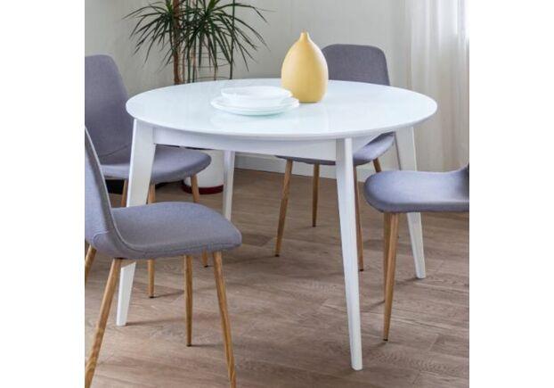 Кухонный круглый стол Равенна D110 см белый/дерево - Фото №2