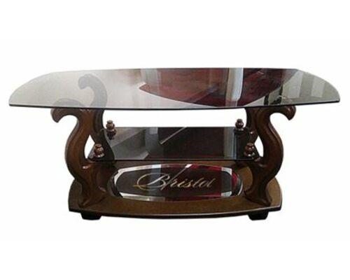 """Журнальный стеклянный стол """"Бристоль-3"""" 1100*500*h450 мм стекло тонированное - Фото №1"""