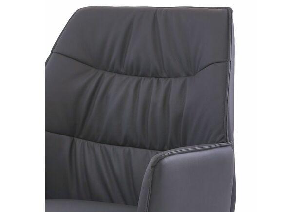 Кресло обеденное поворотное BOSTON Бостон кожзам графит - Фото №2