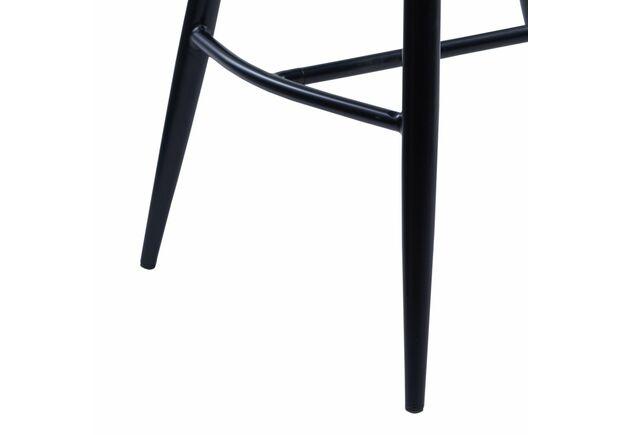 Стул полубарный DIAMOND (Даймонд) велюр черный - Фото №2