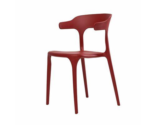 Стул пластиковый LUCKY (Лакки) красный кармин - Фото №1
