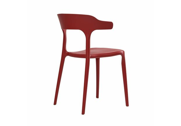 Стул пластиковый LUCKY (Лакки) красный кармин - Фото №2