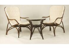 Фото Кофейный комплект CRUZO Дрим столик +2 кресла/натуральный ротанг кофейный ok0030