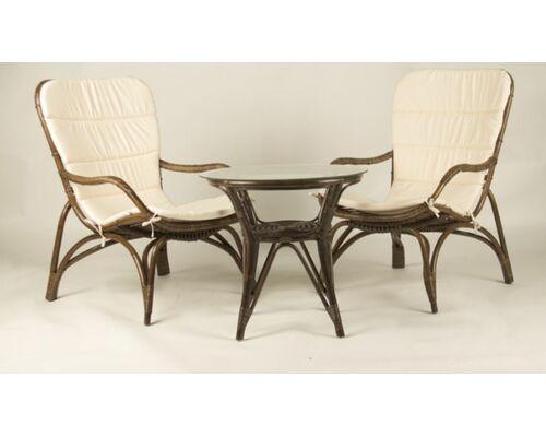 Кофейный комплект CRUZO Дрим столик +2 кресла/натуральный ротанг  - Фото №1