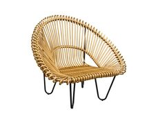 фото Лаунж-кресло Мун из натурального ротанга