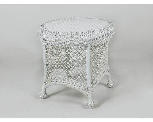 Приставной столик Сопрано искусственный ротанг белый - Фото №1