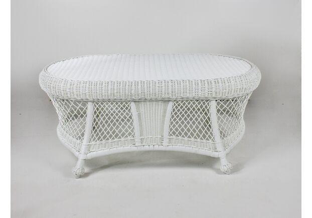 Кофейный столик Сопрано искусственный ротанг белый  - Фото №1