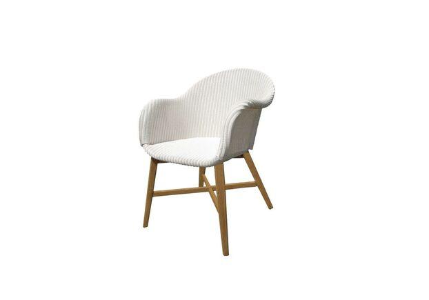 Плетеное кресло Виола лум, белый - Фото №1